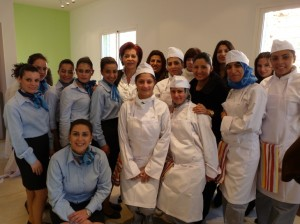 students with the expert Chef Doniguian